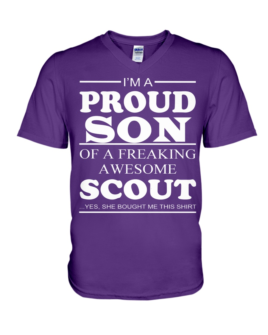 I'm A Proud Son Of A Freaking Awesome Scout V-Neck T-Shirt