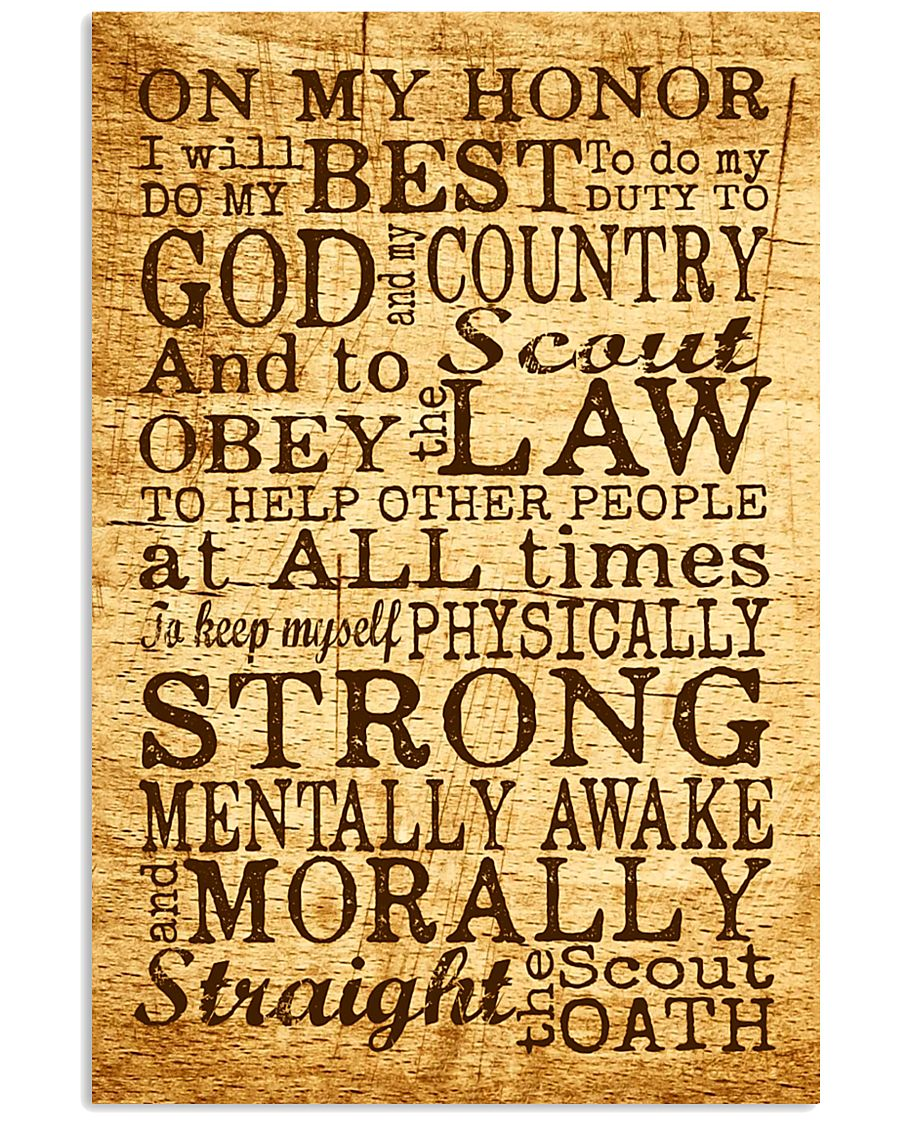 Scout Oath 11x17 Poster