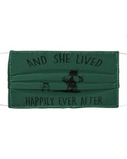 SHE LIVED HAPPILY EVER AFTER Cloth face mask thumbnail