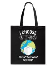 I CHOOSE SCIENCE Tote Bag thumbnail