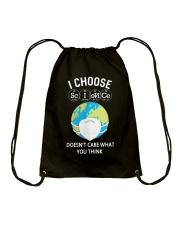 I CHOOSE SCIENCE Drawstring Bag thumbnail