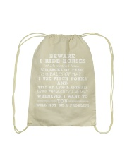 BE WARE I RIDE HORSE Drawstring Bag thumbnail