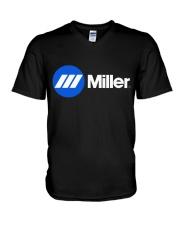 welder- miller V-Neck T-Shirt thumbnail