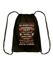 Earn the right to be a Postal Worker shirt Drawstring Bag thumbnail