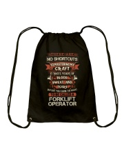Earn the right to be a Forklift Operator shirt Drawstring Bag thumbnail