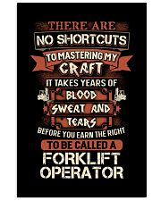 Earn the right to be a Forklift Operator shirt 16x24 Poster thumbnail