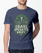 Don't make me use my Crane Operator Voice Shirt Premium Fit Mens Tee lifestyle-mens-crewneck-front-13