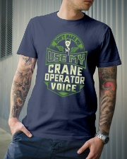 Don't make me use my Crane Operator Voice Shirt Premium Fit Mens Tee lifestyle-mens-crewneck-front-6