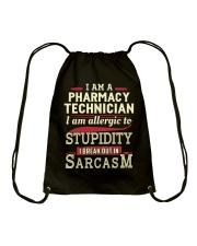 Sarcastic Pharmacy Technician Shirt Drawstring Bag thumbnail