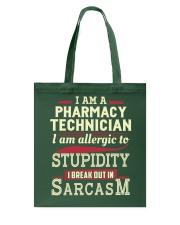 Sarcastic Pharmacy Technician Shirt Tote Bag thumbnail