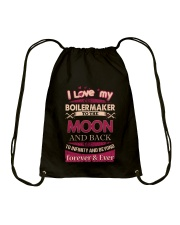 I love my Boilermaker to the Moon Drawstring Bag front