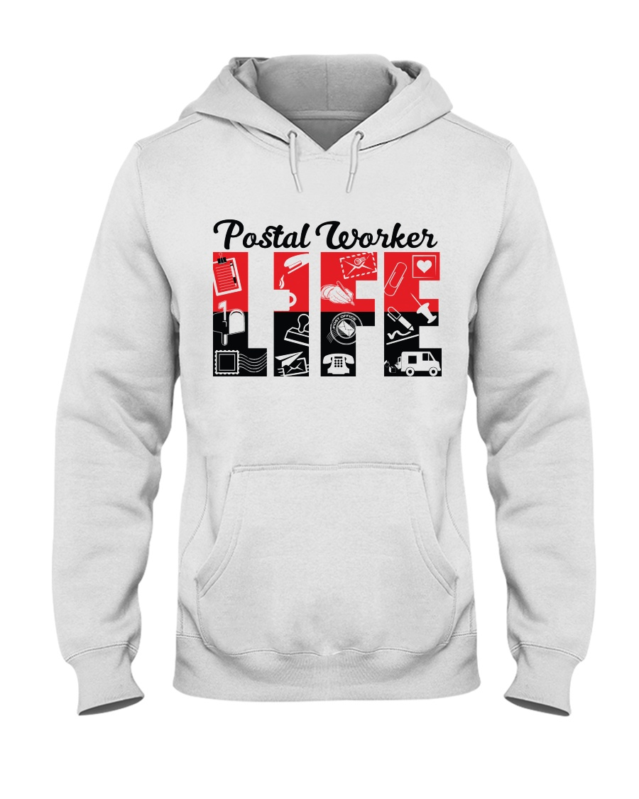 Awesome Postal Worker Shirt Hooded Sweatshirt