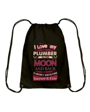 I love my Plumber to the Moon Drawstring Bag tile