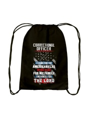 Proud Correctional Officer Shirt Drawstring Bag thumbnail