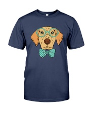 Cool Hipster Dog Shirt Premium Fit Mens Tee front