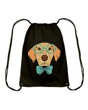 Cool Hipster Dog Shirt Drawstring Bag thumbnail