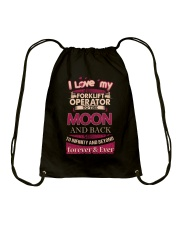 I love my Forklift Operator to the Moon Drawstring Bag front