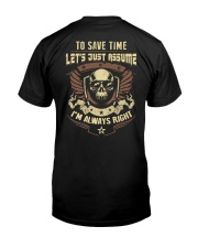 I'm a Electrician and i'm always right Premium Fit Mens Tee back