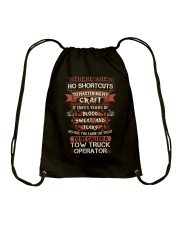 Earn the right to be a Tow Truck Operator shirt Drawstring Bag thumbnail