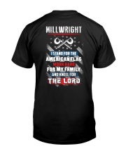 Proud Millwright Shirt Premium Fit Mens Tee back