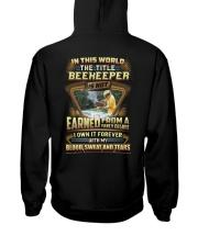 Proud Beekeeper Shirt Hooded Sweatshirt back