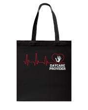 Daycare Provider Heartbeat shirt Tote Bag thumbnail