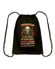 Technician- Straight Hustle all day Shirt Drawstring Bag thumbnail