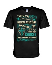 Proud Medical Assistant Shirt V-Neck T-Shirt thumbnail