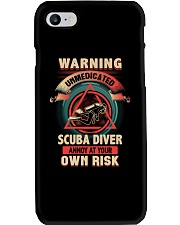Unmedicated Scuba Diver Shirt Phone Case thumbnail