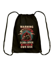 Unmedicated Scuba Diver Shirt Drawstring Bag thumbnail