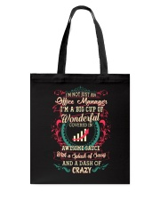 Awesome Office Manager Shirt Tote Bag thumbnail