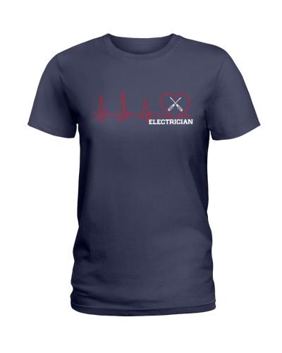 Electrician Heartbeat shirt
