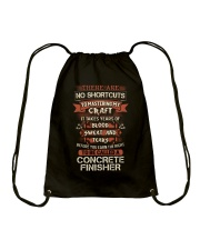 Earn the right to be a Concrete Finisher shirt Drawstring Bag thumbnail