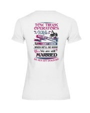 Awesome Tow Truck Operator's Wife Shirt Premium Fit Ladies Tee thumbnail