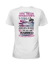 Awesome Tow Truck Operator's Wife Shirt Ladies T-Shirt back