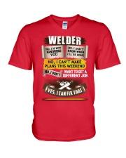 Awesome Welder Shirt V-Neck T-Shirt thumbnail