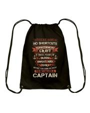 Earn the right to be a Captain shirt Drawstring Bag thumbnail