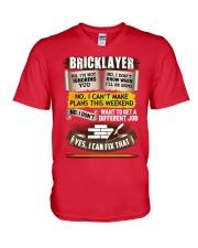Awesome Bricklayer Shirt V-Neck T-Shirt thumbnail