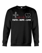 FAITH-HOPE-LOVE-MASSAGE THERAPIST Crewneck Sweatshirt thumbnail