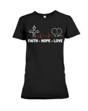 FAITH-HOPE-LOVE-MASSAGE THERAPIST Premium Fit Ladies Tee thumbnail