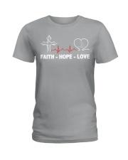 FAITH-HOPE-LOVE-MASSAGE THERAPIST Ladies T-Shirt front