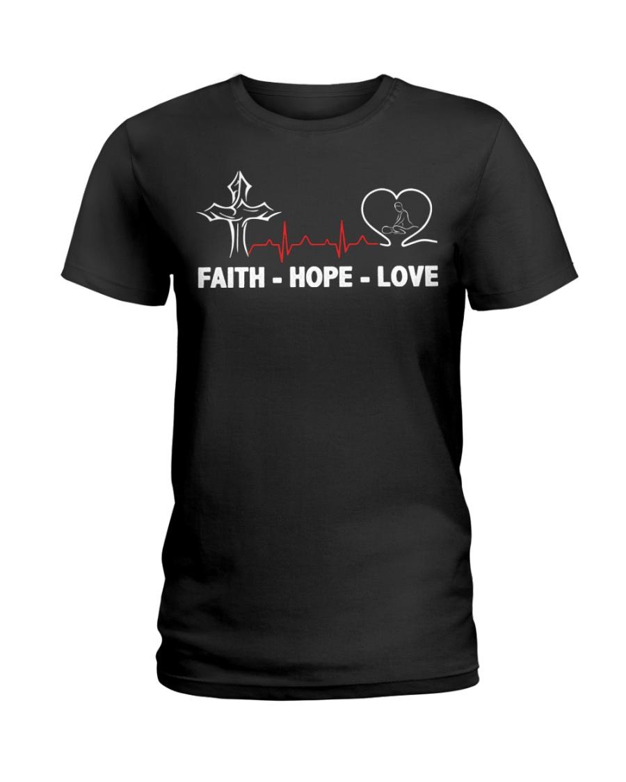 FAITH-HOPE-LOVE-MASSAGE THERAPIST Ladies T-Shirt