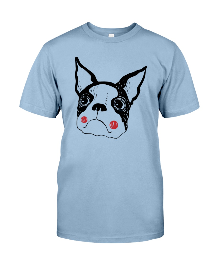 Cool Boston Terrier Face Shirt Premium Fit Mens Tee
