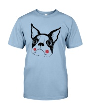 Cool Boston Terrier Face Shirt Premium Fit Mens Tee front