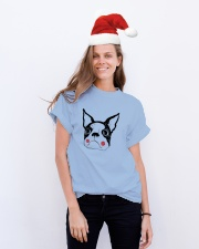 Cool Boston Terrier Face Shirt Premium Fit Mens Tee lifestyle-holiday-crewneck-front-1