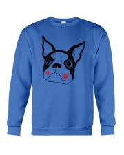 Cool Boston Terrier Face Shirt Crewneck Sweatshirt thumbnail