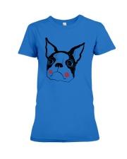 Cool Boston Terrier Face Shirt Premium Fit Ladies Tee thumbnail