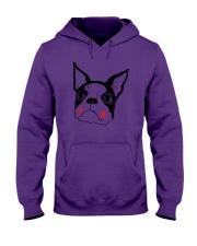 Cool Boston Terrier Face Shirt Hooded Sweatshirt thumbnail