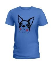 Cool Boston Terrier Face Shirt Ladies T-Shirt thumbnail