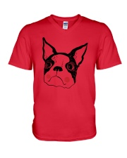 Cool Boston Terrier Face Shirt V-Neck T-Shirt thumbnail